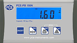 Portable Industrial Scale PCE-PB 150N Display