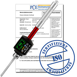 Portable Metal Hardness Tester with ISO Calibration Certificate PCE-2600N-ICA