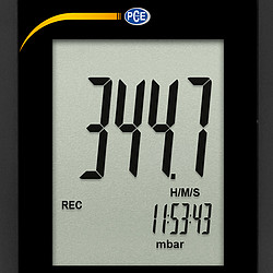 Differential Pressure Meter PCE-P05 display