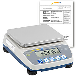 Scale with Software PCE-BSH 10000-ICA Incl. ISO Calibration Certificate