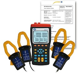 Single Phase / 1-Phase Power Meter PCE-360-ICA incl. ISO Calibration Certificate