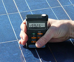 Solar Measuring Device PCE-SPM 1 application