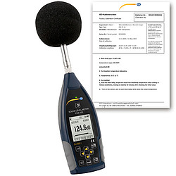 Class 1 Sound Level Data Logger PCE-430-ICA incl. ISO Calibration Certificate