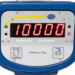 Suspended scale PCE-CS 10000N display