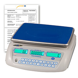 Tabletop Scale PCE-PCS 30-ICA Incl. ISO Calibration Certificate