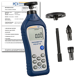 Tachometer PCE-DT 66-ICA Incl. ISO Calibration Certificate