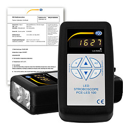 Tachometer PCE-LES 100-ICA incl. ISO Calibration Certificate