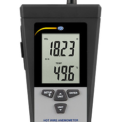 Thermo-Anemometer PCE-423-ICA incl. ISO calibration certificate - display