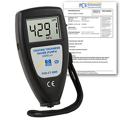Thickness Meter PCE-CT 5000-ICA incl. ISO Calibration Certificate