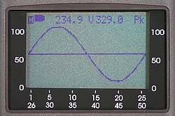 Three-Phase Digital Multimeter PCE-GPA 62 display