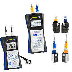 Ultrasonic Flow Meter Kit PCE-TDS 100HSH incl. Ultrasonic Thickness Meter