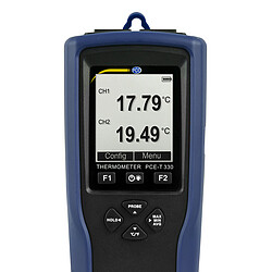 Ultrasonic Flow Meter PCE-TDS 100H+ incl. Thermometer