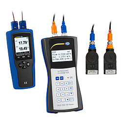 Ultrasonic Flow Tester PCE-TDS 100H+ incl. Thermometer