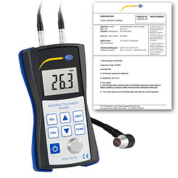 Ultrasonic Material Thickness Meter PCE-TG 50-ICA incl. ISO Calibration Certificate