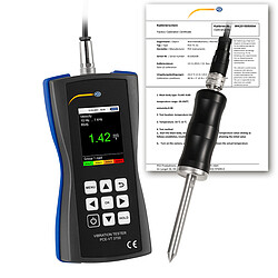Vibration Meter incl. ISO Calibration Certificate.