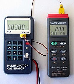 Voltage Calibrator PCE-123 application temperature