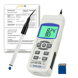 Water Analysis Meter PCE-228HTE-ICA incl. ISO Calibration Certificate