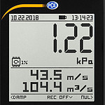 Air Velocity Meter PCE-PDA 10L - display