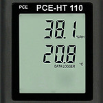 Datalogging Humidity Detector w/ Calibration Certificate PCE-HT110-ICA display