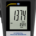 Differential Pressure Meter PCE-P01-ICA Incl. ISO Calibration Certificate