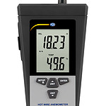 Hot-Wire Anemometer PCE-423-ICA incl. ISO Calibration Certificate - display