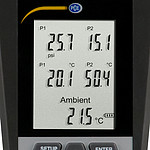 Manometer PCE-HVAC 4 display