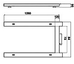 Industrial Pallet Scale PCE-EP 1500 diagram