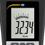 Lux Meter PCE-172-ICA incl. ISO Calibration Certificate - front display