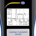 Coating Thickness Gauge PCE-CT 100 Chart
