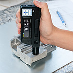 Handheld Metal Hardness Tester PCE-950 in Use