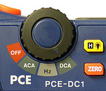 Mini Clamp Meter PCE-DC 1 rotating wheel