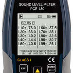 Outdoor Noise Dose Meter Kit PCE-430-EKIT display