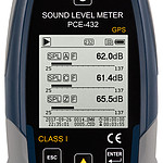Outdoor Noise Dose Meter Kit PCE-432-EKIT display