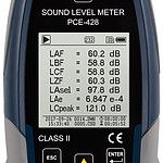 Outdoor Sound Level Meter PCE-428-EKIT display