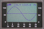 Three-Phase Power Analyzer PCE-GPA 62 display