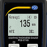 Surface Testing Thickness Gauge PCE-CT 65-ICA Display