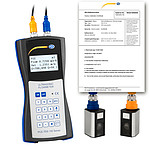Ultrasonic Flow Meter PCE-TDS 100HS-ICA incl. ISO Calibration Certificate