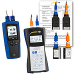 Ultrasonic Flow Tester PCE-TDS 100HSH+-ICA incl. Thermometer & ISO Calibration Certificate