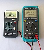 Voltage Calibrator PCE-123 application frequency