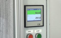 Imagen del indicador de la máquina para ensayos de vapor