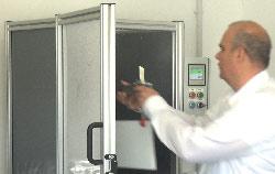 Control de calidad mediante el puesto de prueba para ensayos de vapor