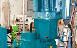 Comportamiento de la oscilación de una máquina durante el proceso