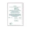 Certificado de calibración para la serie Macro-Linie