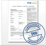 Durometer sample calibration certificate