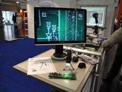 Presentación del microscopio USB en la feria