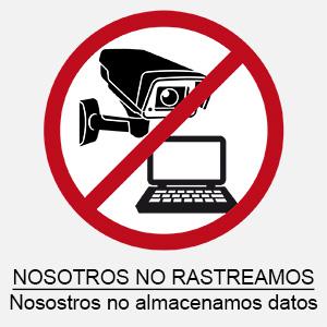PCE no guarda datos personales.