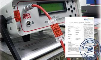 Calibration in relative humidity measurement.