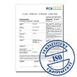 Certificato ISO per l'oscilloscopio