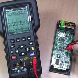 Verifica della risposta in uscita del processore con un oscilloscopio