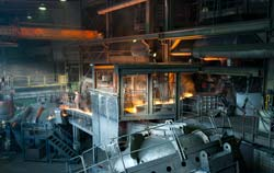 Carbon dioxide monitoring in steel production.